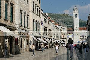 Dubrovnik - rua principal - main street
