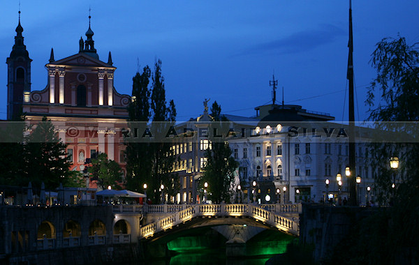 Ljubljana à noite - Ljubljana by night