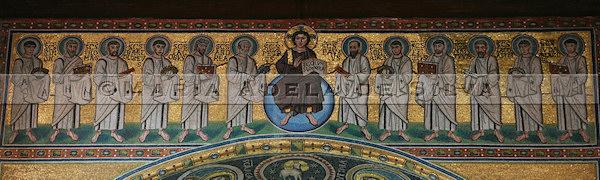 Poreč · mosaico Cristo e apóstolos · Christ and apostoles mosaic