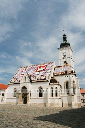 Zagreb · Igreja de São Marcos · St. Mark's Church · Crkva sv. Marka