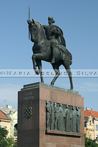 Zagreb · estátua do rei Tomislav · statue of King Tomislav