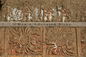 Huaca de la Luna - detalhe da fachada norte - detail of the north façade