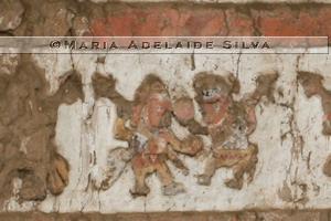 Huaca de la Luna - detalhe de um mural - detail of a mural
