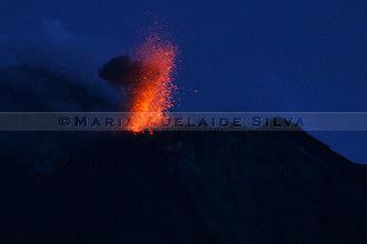 Stromboli - erupção - eruption · foto/photo: © Maria Adelaide Silva